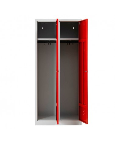 Garderobenschrank Rot/Grau