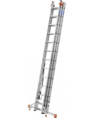 Krause Tribilo Aluminium Mehrzweckleiter İnkl. Traverse Arbeitshöhe (Max.): 6.85 M Aluminium 16.4 Kg