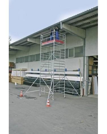 Aluminium Gerüst Fahrbar Arbeitshöhe (Max.): 12.30 M Krause Stabılo Professional Serie 5000 Silber 335 Kg