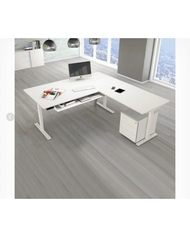 SET : Steh-Sitz Eck-Schreibtisch ERGO + ERGO Bürostuhl