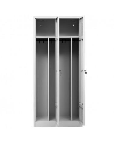 Garderobenschrank Grau/Grau
