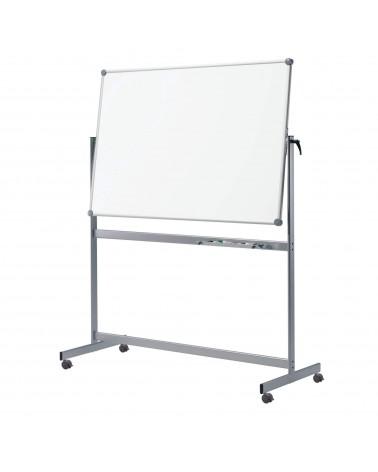 Mobiles Whiteboard Pro, Drehbar Kunststoffbeschichte Grau